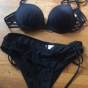 Never worn adore me push up suit